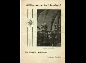 Portugal: Willkommen in Lissabon, Deutsche Arbeitsfront, Wegweiser, ca. 1940