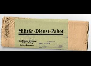 GG:Militär-Dienst-Paket Krakauer Zeitung, selten mit kompletter Soldaten Zeitung