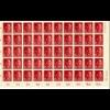 GG Bogen MiNr. 78, verschiedene Zähnungen oder Sektorennummern, ** - postfrisch