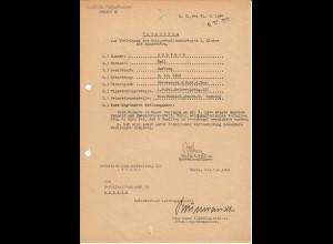 Vorschlag KVK II. Klasse, Bandenkampf, Smoligow, 03.1944, SS-Polizei Reiterregiment