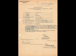 Vorschlag KVK 2. Kl., Bandenkampf, Malkow, 04.44, SS Reiterabteilung, Cholm, FP 16107B