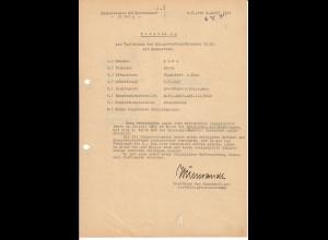 Vorschlag KVK 2. Kl., Bandenkampf, Drogojowka, 7.43, SS-Pol. Reiter Abtlg. III, FPNr. 16107A