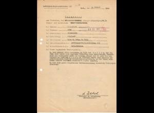 Vorschlag KVK 2. Kl., Bandenkampf, Malkow 6.43, SS-Pol. Reiterabteilung III