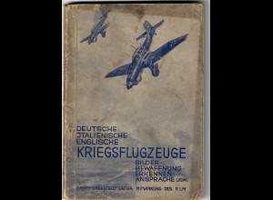 Buch: Deutsche, Italienische, Englische Kriegsflugzeuge, Erkennung, Bilder 1940
