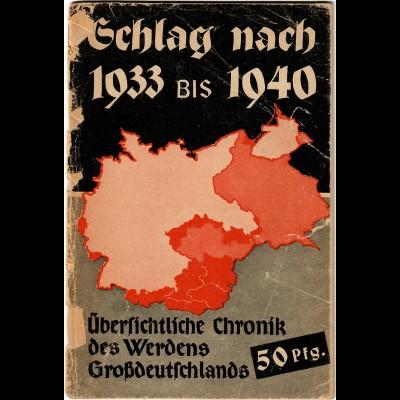 Schlag nach über Deutschland, 1933-40, Meilensteine und Daten