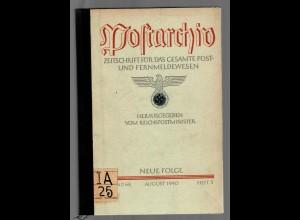 Postarchiv: Band 68, 1940, Heft 3, gebunden, Themen siehe Beschreibung