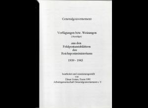 Generalgouvernement - GG - Verfügungen und Weisungen aus Feldpostamtsblättern