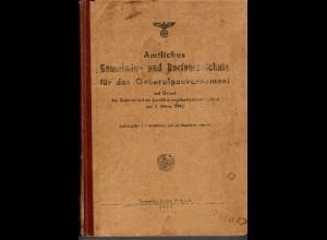 Amtliches Gemeinde- Dorfverzeichnis für das Generalgouvernement 1943, original