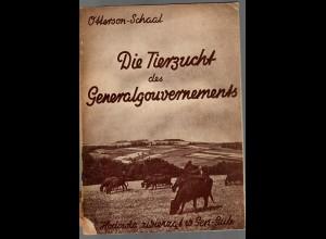Die Tierzucht im Generalgouvernement, deutsch/polnisch, 1942, interessant, GG