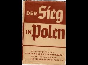 Der Sieg in PolenOKW 1939, mit Umschlag, Polenfeldzug, Generalgouvernement