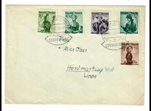 Brief aus Hirschegg/Kleinwasertal, Kinderheim Hägele nach Hörstmar-Sondertarif