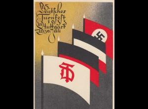 Propaganda Karte: 15. Deutsches Turnfest Stuttgart, 1933