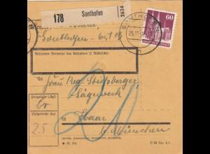 BiZone Paketkarte 1948: Sonthofen an Sägewerk Haar/München