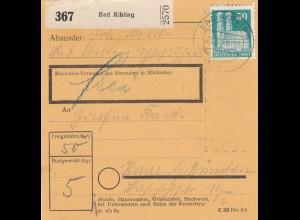 BiZone Paketkarte 1949: Bad Aibling nach Haar/München