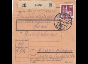 BiZone Paketkarte 1948: Painten nach Haar bei München