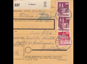 BiZone Paketkarte 1948: Fellheim nach Berchtesgarden, Versehrten-Heilstätte