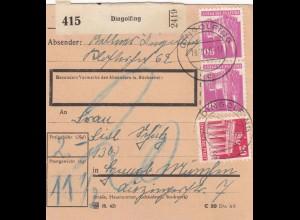 BiZone Paketkarte 1948: Dingolfing nach Gmund, Nachgebühr