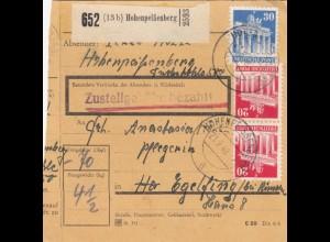 BiZone Paketkarte 1948: Hohenpeißenberg nach Eglfing, Pflegerin