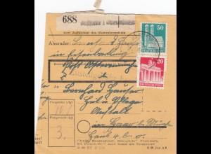 BiZone Paketkarte: Ostermünchen nach Heil- u. Pflegeanstalt in Haar bei München