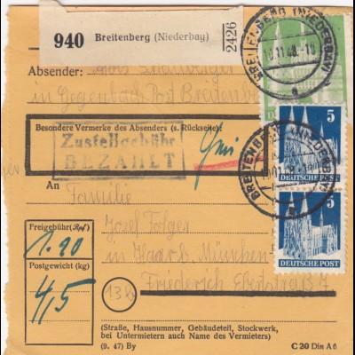 BiZone Paketkarte1948: Breitenberg nach Haar b. München