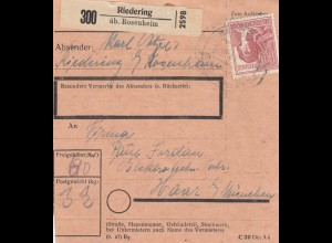 BiZone Paketkarte 1948: Riedering nach Haar