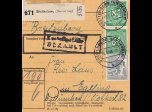 BiZone Paketkarte 1948: Breitenberg nach Haar b. München