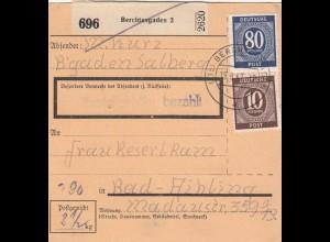 BiZone Paketkarte 1947: Berchtesgaden nach Bad-Aibling