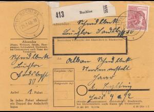 BiZone Paketkarte 1948: Buchloe nach Eglfing