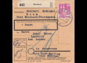 BiZone Paketkarte 1948: Miesbach nach Grasbrunn, Nachgebühr