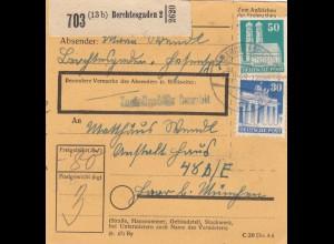 BiZone Paketkarte 1948: Berchtesgaden nach Haar, Anstalt