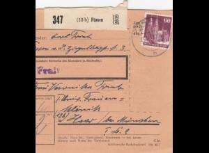 BiZone Paketkarte 1948: Füssen nach Haar, Klinik