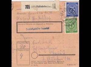 BiZone Paketkarte 1947: Pfaffenhofen nach Eglfing Haar