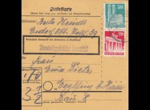 BiZone Paketkarte: Endorf nach Eglfing b. Haar