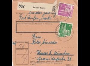 BiZone Paketkarte 1948: Dorfen Markt nach Haar b. München