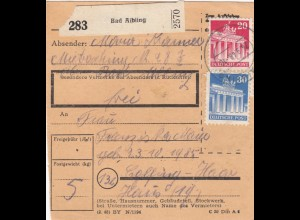 BiZone Paketkarte 1948: Bad Aibling nach Eglfing-Haar