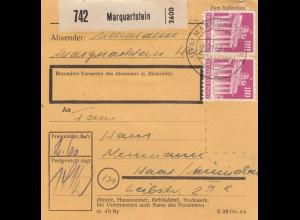 BiZone Paketkarte 1948: Marquartstein nach Haar b. München