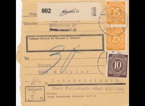 BiZone Paketkarte 1947: München nach Untersteinach