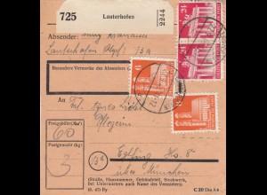 BiZone Paketkarte 1948: Lauterhofen nach Eglfing, Pflegeheim