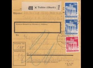 BiZone Paketkarte 1948: Tschirn nach Haar b. München