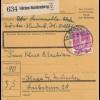 BiZone Paketkarte 1948: Nörten-Hardenberg nach Haar bei München