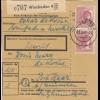 BiZone Paketkarte 1948: Wiesbaden nach Post Haar b. München