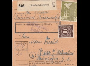 BiZone Paketkarte: Krumbach nach Haar b. München