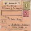 BiZone Paketkarte 1947: Burgkirchen nach B. Aibling