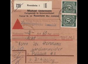 BiZone Paketkarte: Rosenheim nach Pullach, Selbstbucherkarte, Nachnahme