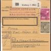 BiZone Paketkarte 1948: Kraiburg nach Haar b. München