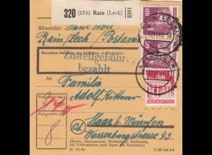 BiZone Paketkarte 1948: Rain nach Haar bei München