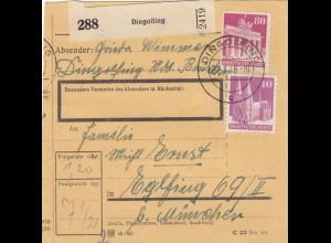 BiZone Paketkarte 1948: Dingolfing nach Eglfing