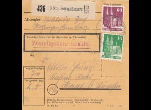 BiZone Paketkarte 1948: Hohenpeißenberg nach Haar b. München