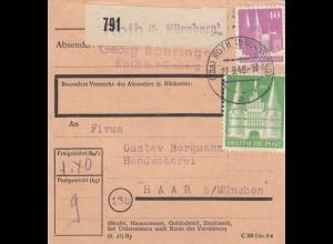 BiZone Paketkarte 1948: Roth bei Nürnberg nach Haar