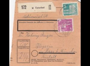 BiZone Paketkarte 1948: Unterlind nach Haar, Pflegerin